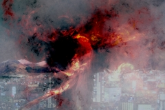 Phoenix-Rising-Over-City