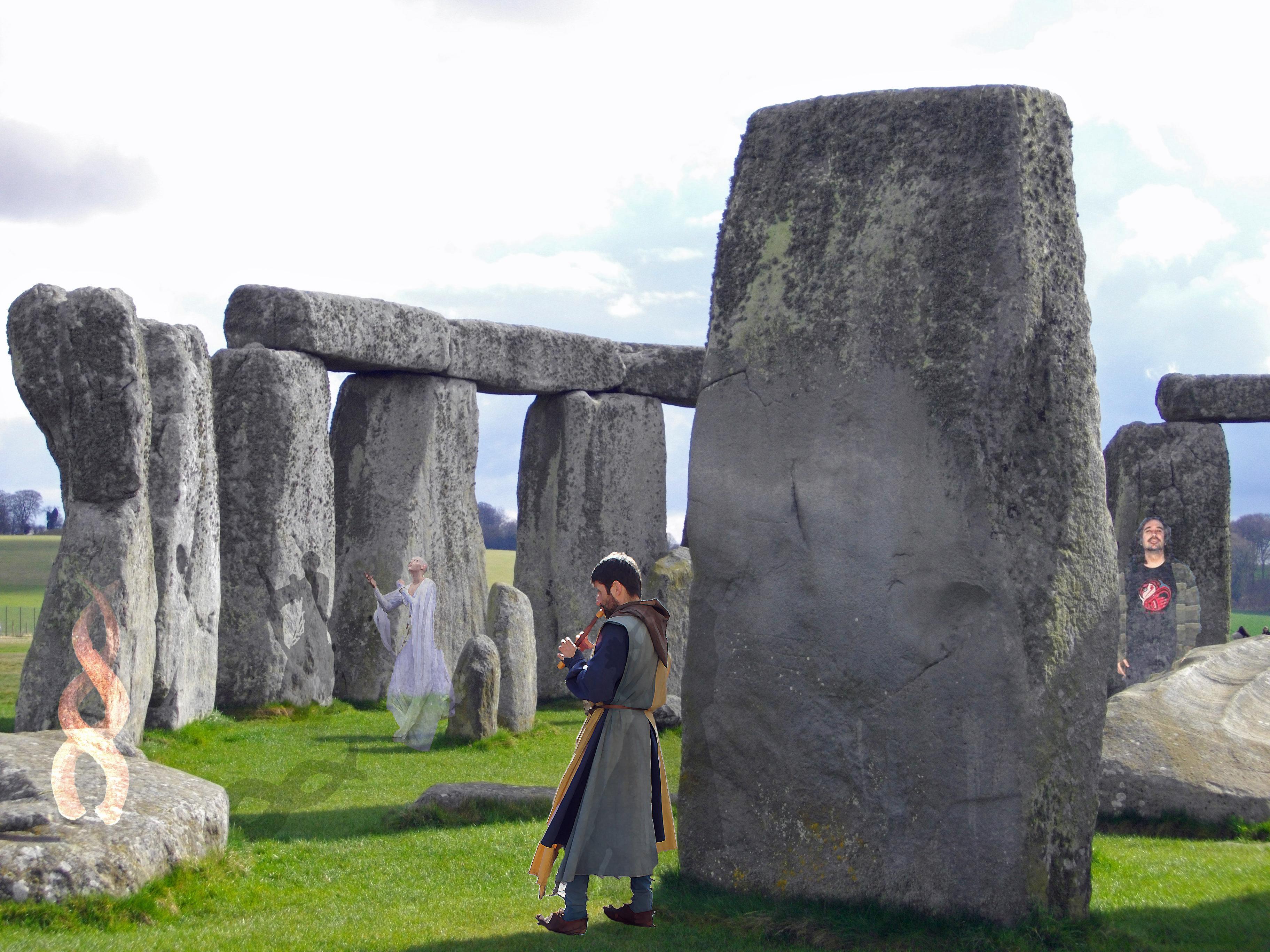Foto del cerchio di stonehenge